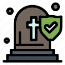 church, death, funeral, insurance icon
