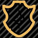 defense, guard, protect, security, shield icon