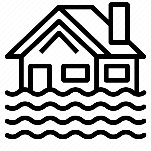Flood, home, house, insurance icon - Download on Iconfinder