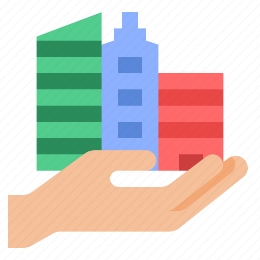 building, insurance, property, protection icon