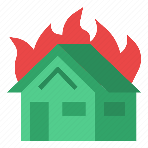 fire, home, house, insurance icon