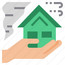 disaster, home, house, insurance icon