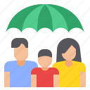 family, insurance, protection, umbrella icon