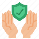 contract, hand, insurance, protection icon