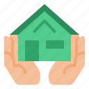 estate, home, insurance, mortgage icon