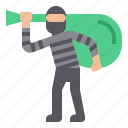 burglar, crime, robbery, thief icon