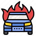 car, fire, insurance, protection icon