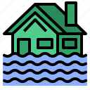 flood, home, house, insurance icon