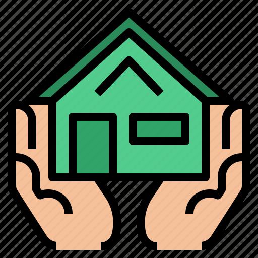 estate, home, insurance, mortgage icon