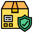 delivery, insurance, package, parcel icon