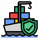 insurance, protection, shipping, transportation icon