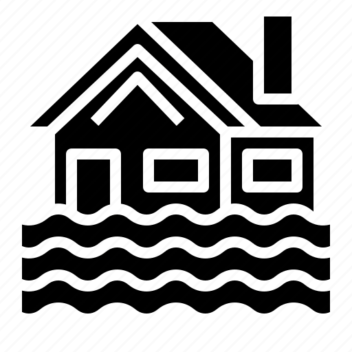 flood, home, house, insurance icon