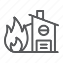 disaster, fire, home, house, insurance, protection icon