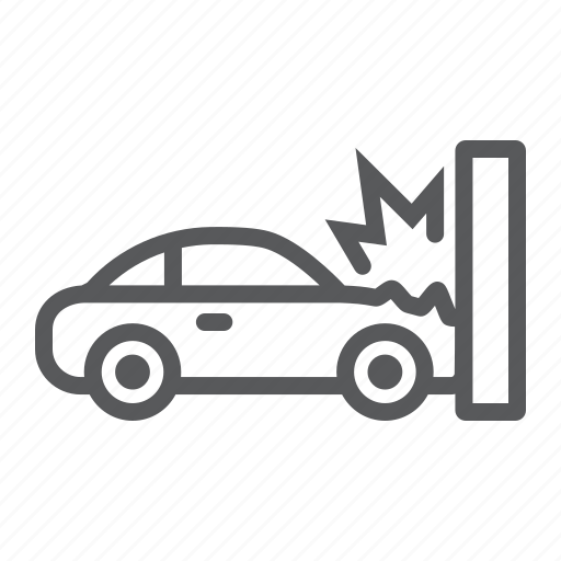 accident, auto, broken, car, crash, disaster, traffic icon