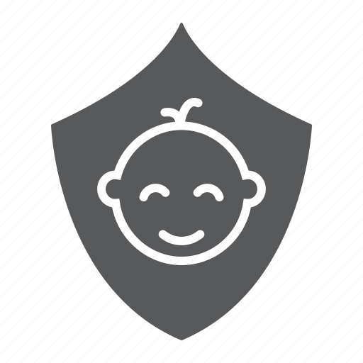 care, children, family, insurance, kid, safety, shield icon