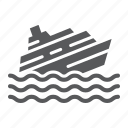 boat, catastrophe, disaster, ship, sink, sinking, water icon