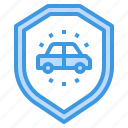 car, care, insurance, protection, security, shield, vehicle icon