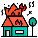 care, fire, house, insurance, protection, security icon