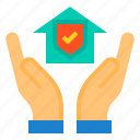 care, house, insurance, property, protection, security icon