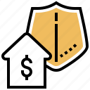 estate, insurance, property, protection, safety icon