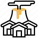 assessment, disaster, possibility, risk, threat icon