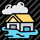 damage, disaster, estate, flood, insurance