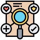 condition, contract, insurance, qualification, statement icon