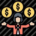 compensation, debt, financial, insurance, liability icon