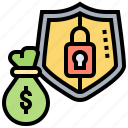 compensation, financial, insurance, protection, secure icon