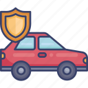 automobile, car, insurance, protection, security, shield, vehicle