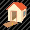 broken, cartoon, door, estate, home, house, residential icon