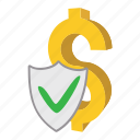 business, cartoon, concept, dollar, finance, insurance, money icon