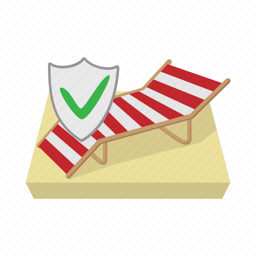 cartoon, concept, insurance, recliner, travel, trip, vacation icon