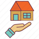 home protection, house insurance, insurance, life protection icon