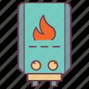 boiled water, boiler insurance, geyser, insurance icon