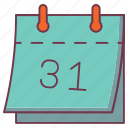 31st date, calendar, insurance, schedule, time based insurance icon