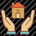 farm insurance, farmhouse protection, home safety, house protection, insurance icon