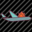 aviation insurance, flight insurance, insurance, plane crash, transport, travel insurance icon
