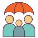 family insurance, insurance, life insurance, protection, security, umbrella protection icon