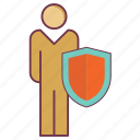 human guard, human insurance, insurance, life insurance, life safety, man protection, safeguard icon