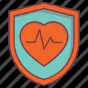 health insurance, heartbeat, hospital sign, human protection, insurance icon
