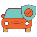 automobile, car insurance, car protection, car safeguard, insurance, transport, vehicle safety icon