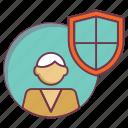 human shield, insurance, life insurance, life protection, life safeguard, shield icon