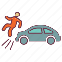 accident, crash, emergency, incident, insurance, miss fortune, misshapen icon