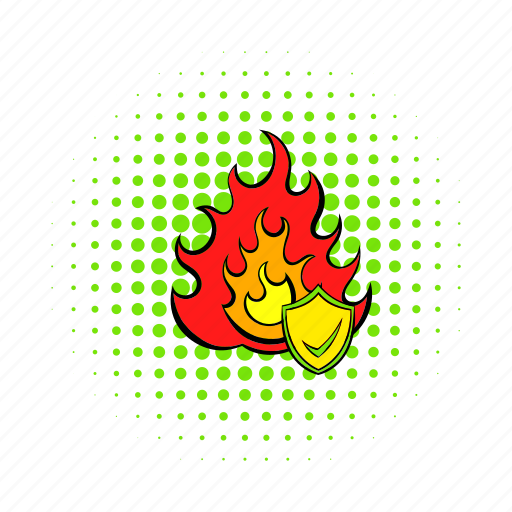 comics, fire, home, insurance, property, protection, red icon