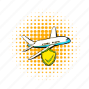 aircraft, airplane, business, comics, plane, transportation, travel icon