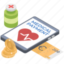 online payment, healthcare payment app, medical payment app, medical app, medical billing app icon