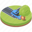 car accident, car crash, road accident, road tragedy, traffic accident icon