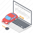 digital car insurance, insurance website, online auto insurance, online auto protection, online insurance icon
