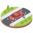 car accident, car burst, car crash, road accident, road tragedy, traffic accident, tyre puncher icon